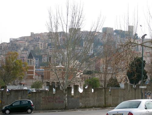 Gamlebyen i Salemi på Sicilia