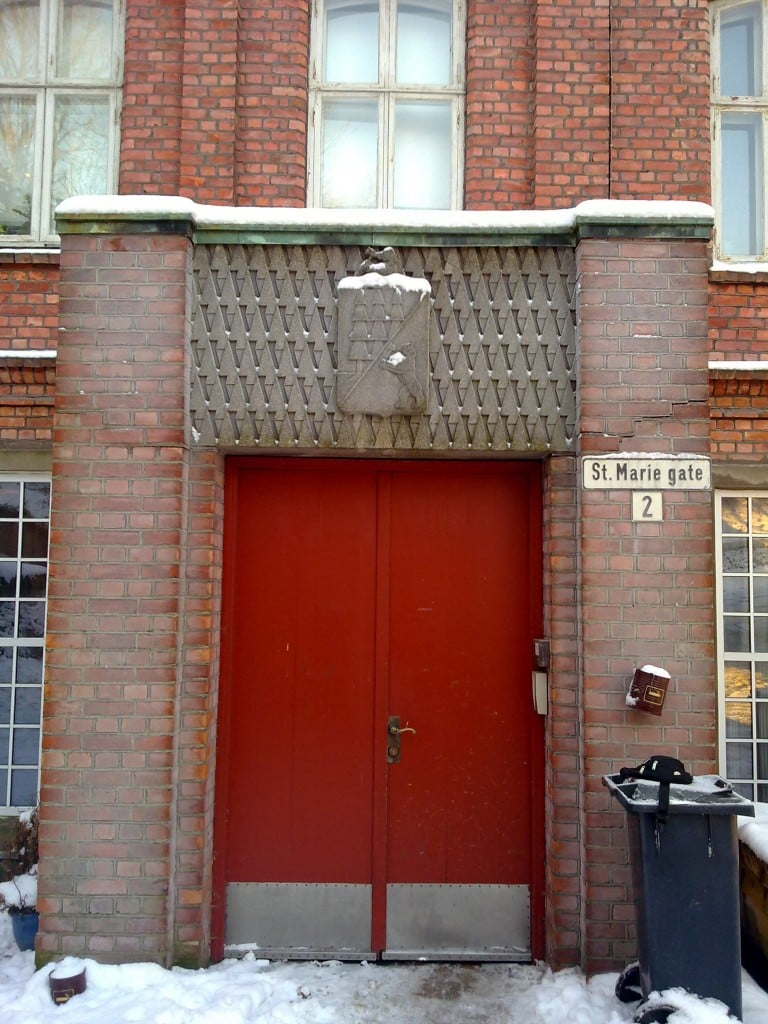Borregaards gamle administrasjonsbygning - hovedinngangen