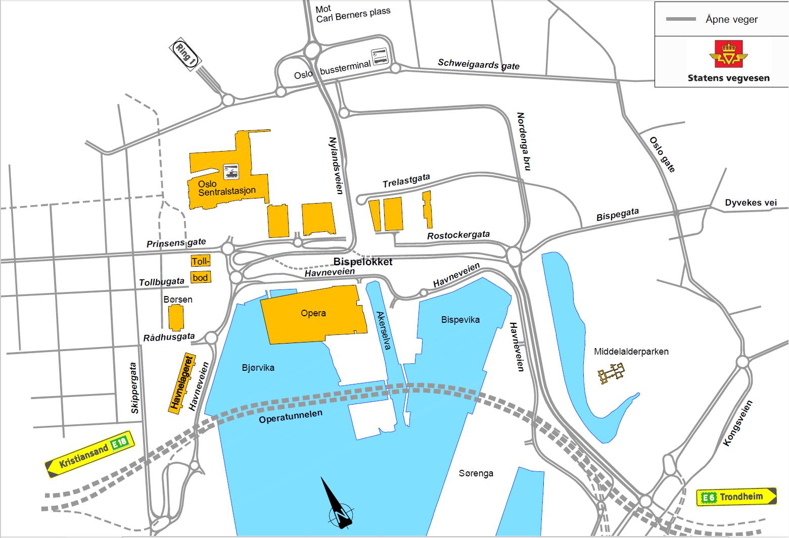 Bjørvika kjøremønster 2011