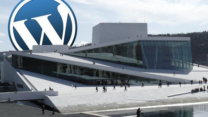 Operaen i Oslo pluss WordPress-logo